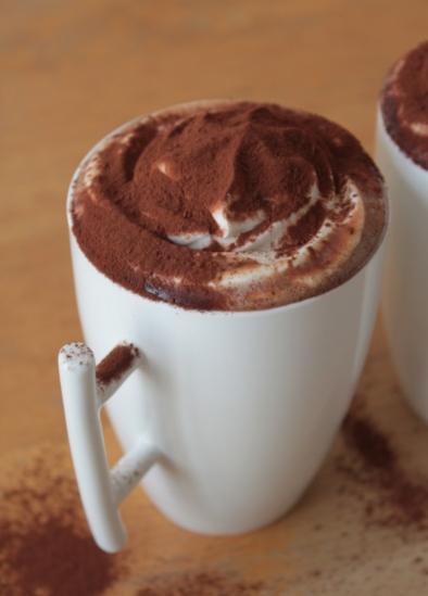 chocolat chaud crème fouettée
