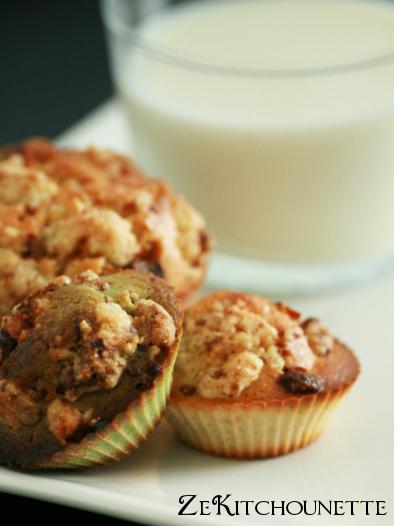 muffins vanille crumble choco lait