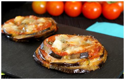 Aubergines parmigiana mozzarella
