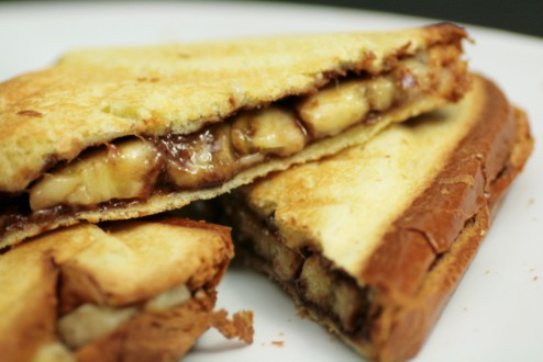 croque banane nutella