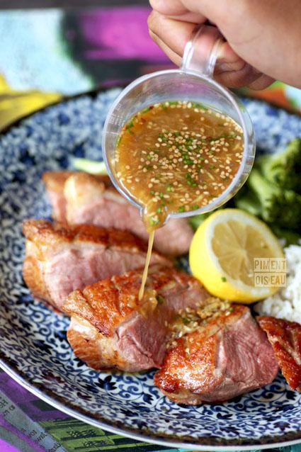 magret sauce gingembre wasabi