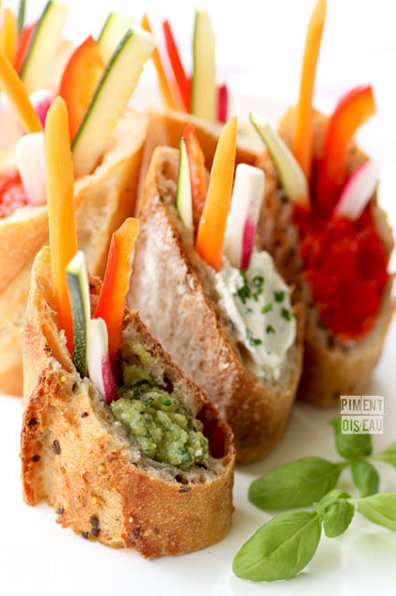 mini sandwich legumes