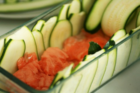 terrine saumon courgette