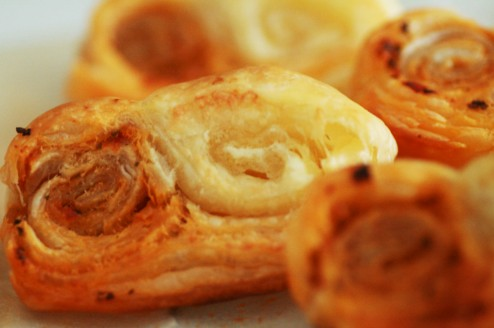 palmiers tomate et fromage