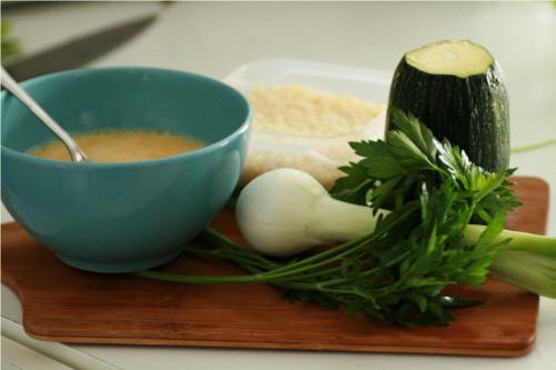 les ingrédients pour faire l'omelette