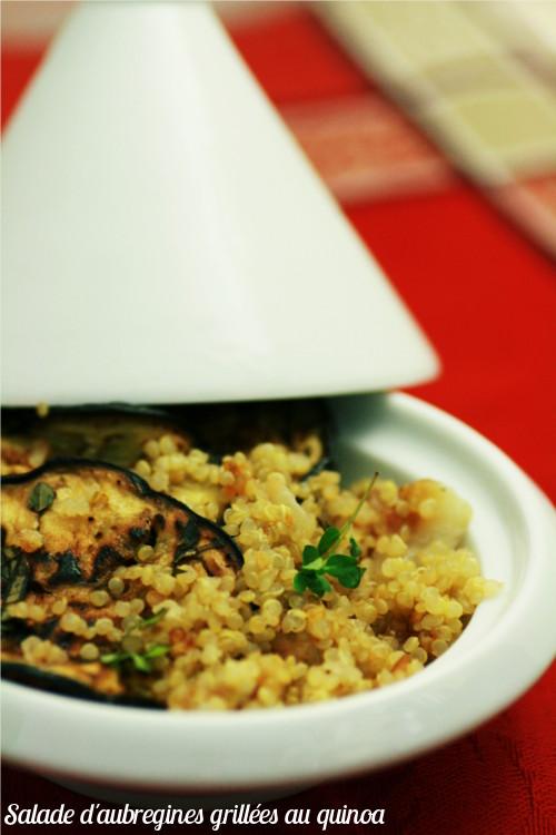 salade aubergines grillées au quinoa