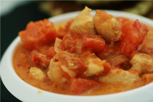 curry poulet potiron lait coco