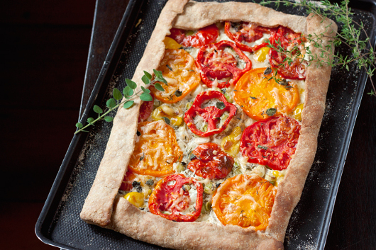 Tarte tomates poireaux