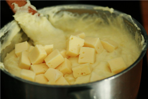 fromage sur purée