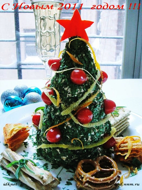 sapin de noel au fromage frais - christmas tree cheese cream