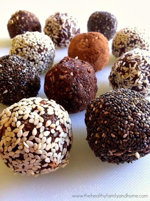 crunchy-raw-protein-balls, boules croustillantes de protéines