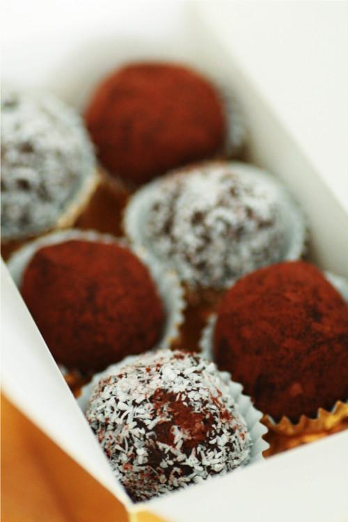 truffes au chocolat cadeau gourmand