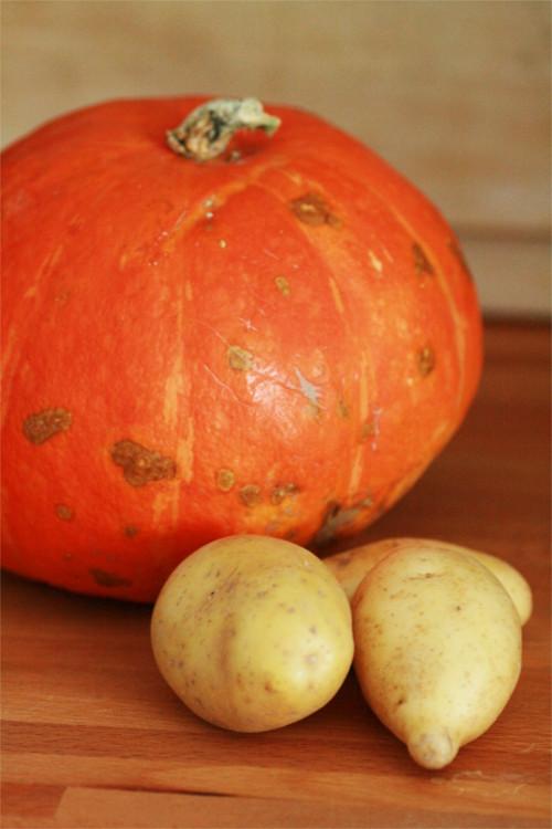 potimaron et pomme de terre