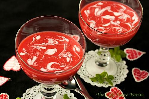 strawberry clementine soup soupe fraise clémentine