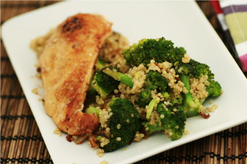 gratin brocoli quinoa the zone