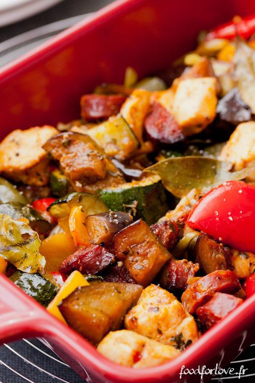 legumes confits chorizo poulet paprika fumé paleo