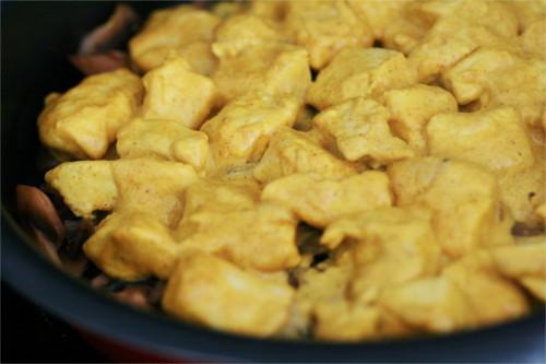 tatin poulet à l'indienne