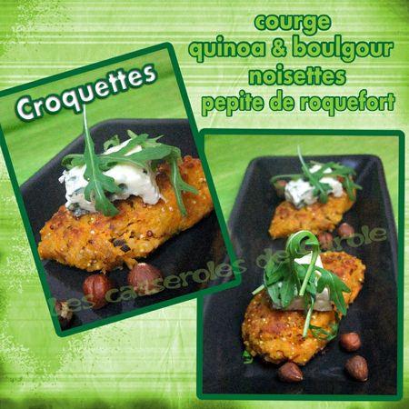 croquette courge quinoa