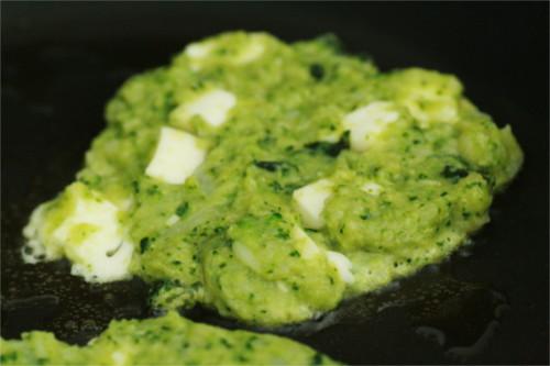 galette brocoli chou cuisson