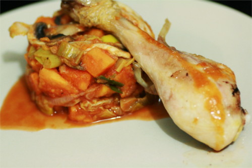 poêlée de légumes paléo avec poulet the zone