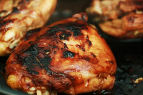 poulet mariné soja et citronnelle