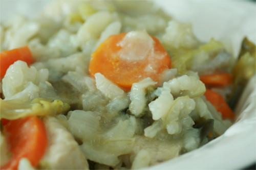 risotto légumes d'automne et poulet