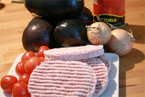 ingrédients lasagnes aubergines