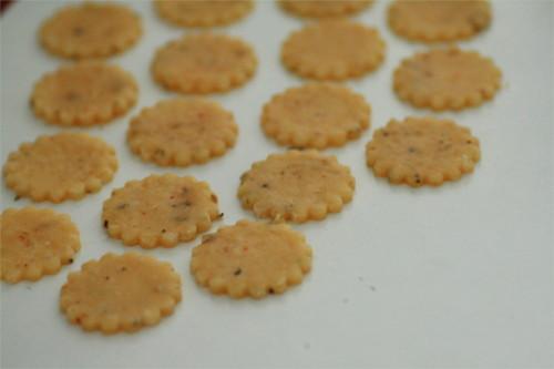 sables parmesan et piment d'espelette avant cuisson