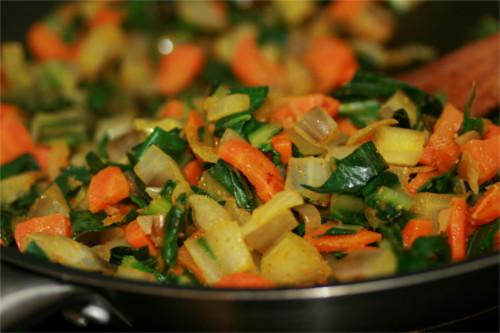 poêlée de légumes d'hiver épicée