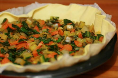 tourte aux légumes